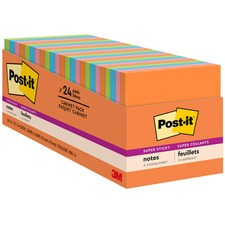 MMM65424SSAUCP - Post-it® Super Sticky Notes Cabinet Pack - Rio de Janeiro Color Collection