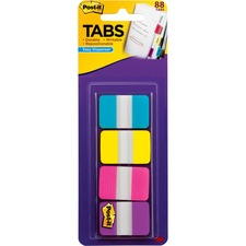"""MMM 686AYPV1IN 3M Post-it 1"""" Solid Color Self-stick Tabs MMM686AYPV1IN"""