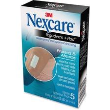 "Nexcare Waterproof Sterile Transparent Bandages - 2.38"" (60.33 mm) x 4"" (101.60 mm) - Transparent"