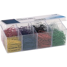 OIC 97228 Officemate PVC-free Color-coated Paper Clips OIC97228