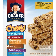 QKR 31188 Quaker Foods Chewy Granola Bars Variety Pack QKR31188