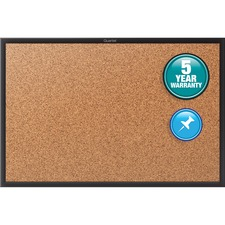 Quartet® Cork Bulletin Board, 4' x 3', Black Aluminum Frame