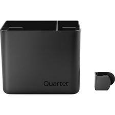 "Quartet® Prestige 2 Connects™ Accessory Storage Cup, Large, 4"" x 5"" x 3"" - 4"" (101.60 mm) x 5"" (127 mm) x 3"" (76.20 mm) x - Plastic - 1 Each - Black"