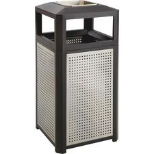 SAF 9935BL Safco Evos Steel Ash/38-gal Waste Receptacle SAF9935BL