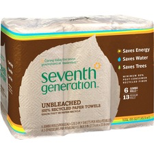 SEV 13737 Seventh Gen. Natural Unbleached Paper Towels SEV13737