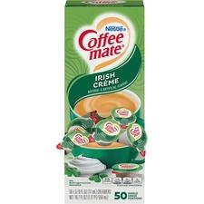 Coffee-Mate Irish Cream Liquid Creamer - Irish Cream Flavor - 10.8 g - 50/Box