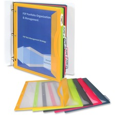 CLI 06650 C-Line Write-on Tab Poly Binder Pockets CLI06650