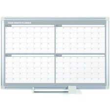 BVCGA03105830 - MasterVision MasterVision Dry-erase 4-month Planner