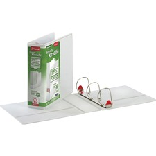 """Cardinal Speedy XtraLife Slant-D Ring Binders - 3"""" Binder Capacity - Letter - 8 1/2"""" x 11"""" Sheet Size - D-Ring Fastener(s) - 2 Pocket(s) - Polyolefin-covered Chipboard - White - Recycled - Non-stick, Locking Ring, Spine Label, Clear Overlay, Split Resistant, Tear Resistant, Flat, Non-glare, PVC-free, Eco-friendly, Temperature Resistant, ... - 1 Each"""