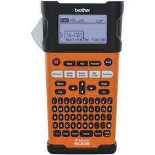 "Brother Handheld Electrician Labelling Printer - Direct Thermal - 20 mm/s Mono - 180 dpi - Label, Tape0.14"" (3.50 mm), 0.24"" (6 mm), 0.35"" (9 mm), 0.47"" (12 mm), 0.71"" (18 mm) - LCD Screen - Battery, Power Adapter - 6 Batteries Supported - AA - Lithium Ion (Li-Ion) - Orange - Auto Power Off, QWERTY, Manual Cutter, Label Length Setting, Auto Incrementation, Auto Numbering, Horizontal Alignment, Vertical Printing, Rotational Printing, Auto-format, Barcode Printing - for Industry"
