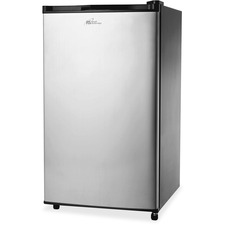 Royal Sovereign 4.0 Cubic Ft Compact Stainless Steel Refrigerator- RMF-113SS - 113.27 L - Manual Defrost - Reversible - 90.61 L Net Refrigerator Capacity - 22.65 L Net Freezer Capacity - Black, Stainless Steel - Glass Shelf - 40 dB Noise