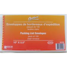 """Geocan Packing List/Invoice Enclosed Envelopes - Packing List - 10"""" Width x 5 1/2"""" Length - Peel & Seal - 100 / Pack"""