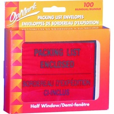 """Geocan Packing List/Invoice Enclosed Envelopes - Packing List - 5 1/2"""" Width x 4 1/2"""" Length - Peel & Seal - 100 / Box"""
