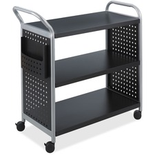 SAF 5339BL Safco Scoot 3-Shelf Utility Cart SAF5339BL