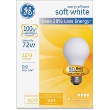 GEL 66249 GE Lighting Energy-eff Soft White 72W A19 Bulb GEL66249