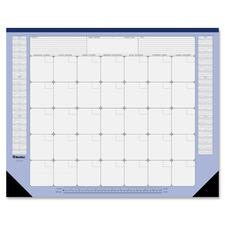 """Blueline Monthly Perpetual (22"""" x 17"""") - 22"""" x 17"""" Sheet Size - Desk Pad - Reinforced - 1 Each"""