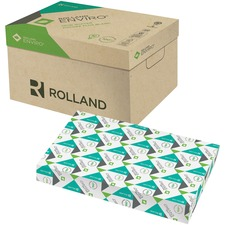 "Rolland Enviro100 Laser Recycled Paper - White - Recycled - 100% - 89% Opacity - Ledger/Tabloid - 11"" x 17"" - 20 lb Basis Weight - Smooth - 500 / Ream"