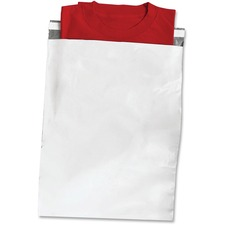 "Crownhill Mailer - Shipping - 12"" Width x 15 1/2"" Length - Self-sealing - Polyethylene - 100 / Pack - White, Gray"