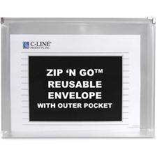 CLI 48117 C-Line Zip 'N Go Zippered Expanding Poly Pockets CLI48117
