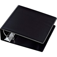 "Cardinal Heavy Duty Reference Locking Slant-D Ring Binder, 6"" Black - 6"" Binder Capacity - 1300 Sheet Capacity - D-Ring Fastener(s) - Black - Recycled - Heavy Duty, Locking Ring, PVC-free, Non-stick - 1 Each"
