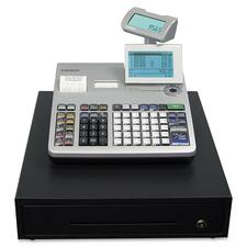 Casio PCR-T2400L Cash Register - 7000 PLUs - 50 Clerks - 200 Departments - Thermal Printing