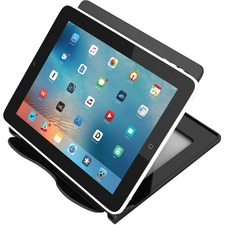 "Deflecto Hands-Free Tablet Stand - 5.75"" (146.05 mm) x 7.13"" (180.98 mm) x 7"" (177.80 mm) - 1 Each - Black"