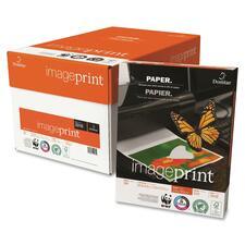 "Domtar ImagePrint Inkjet, Laser Copy & Multipurpose Paper - 92% Opacity - Letter - 8 1/2"" x 11"" - 24 lb Basis Weight - 500 / Ream - White"