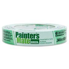 "Painter's Mate Green Painter's Tape - 60 yd (54.9 m) Length x 0.94"" (23.9 mm) Width - Paper - 1 Each - Green"
