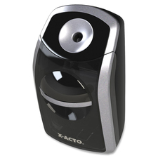 X-Acto SharpX Portable Battery-operated Pencil Sharpener - Battery Powered - Black, Silver