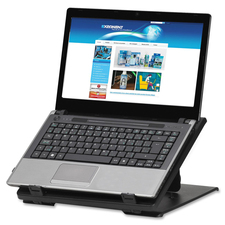 "Exponent Microport Laptop Riser - 7.50 kg Load Capacity - 17.72"" (450 mm) Height x 12.60"" (320 mm) Width x 12.40"" (315 mm) Depth - Black"