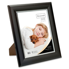 "First Base Elementals 8x10 Easy Insert Frame Satin Mocha - 8"" x 10"" Frame Size - Rectangle - Tabletop - Landscape, Portrait - Swivel Clip, Hanger, Hinged Easel - 1 Each - Metal, Satin - Mocha"