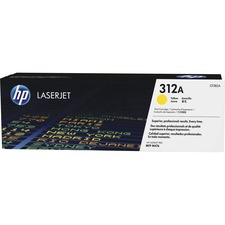 HP 312A (CF382A) Original Toner Cartridge - Single Pack - Laser - 2700 Pages - Yellow - 1 Each