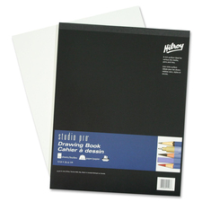 "Hilroy Studio Pro Drawing Book - 50 Sheets - Plain - 50 lb Basis Weight - 11"" x 14"" - White Paper - Acid-free - 1Each"