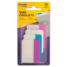 "Post-it® File Tab - 24 Tab(s)2"" Tab Width - Assorted Tab(s) - 24 / Pack"