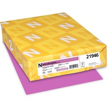"""Astrobrights Inkjet, Laser Colored Paper - Outrageous Orchid - Letter - 8 1/2"""" x 11"""" - 24 lb Basis Weight - Smooth - 500 / Pack"""