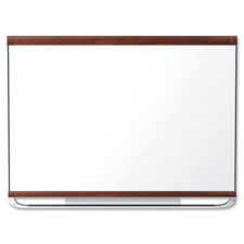 "Quartet Display Board - 48"" (1219.20 mm) Height x 72"" (1828.80 mm) Width - Mahogany Surface - 1 Each"