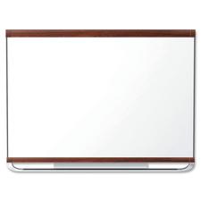 "Quartet Display Board - 48"" (1219.20 mm) Height x 96"" (2438.40 mm) Width - Mahogany Surface - 1 Each"