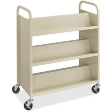 SAF 5357SA Safco 6-Shelf Steel Double-sided Book Cart SAF5357SA