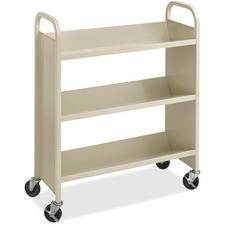 SAF 5358SA Safco 3-Shelf Steel Mobile Single-sided Bookcart SAF5358SA