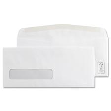 "Supremex Envelope - Single Window - #10 - 9 1/2"" Width x 4 1/8"" Length - Wove - 500 / Box - White"