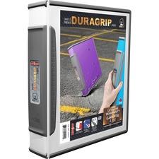 "Storex Dura Grip D-ring Binder - 1 1/2"" Binder Capacity - Letter - 8 1/2"" x 11"" Sheet Size - 400 Sheet Capacity - D-Ring Fastener(s) - White - 1 Each"