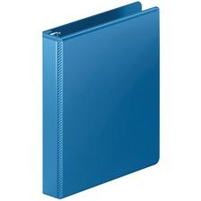 "Wilson Jones Heavy-duty Customizer D-ring View Binder - 1"" Binder Capacity - Letter - 8 1/2"" x 11"" Sheet Size - 220 Sheet Capacity - D-Ring Fastener(s) - Internal Pocket(s) - Polypropylene - Blue - Spine Label, Heavy Duty, Wear Resistant, Tear Resistant, Crack Resistant, Gap-free Ring, Anti-glare, PVC-free, Hinged, Textured, Latex-free, ... - 1 Each"