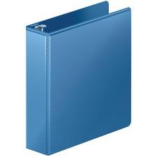 "Wilson Jones Heavy-duty Customizer D-ring View Binder - 2"" Binder Capacity - Letter - 8 1/2"" x 11"" Sheet Size - 480 Sheet Capacity - D-Ring Fastener(s) - Internal Pocket(s) - Polypropylene - Blue - Spine Label, Heavy Duty, Wear Resistant, Tear Resistant, Crack Resistant, Gap-free Ring, Anti-glare, PVC-free, Hinged, Textured, Latex-free, ... - 1 Each"