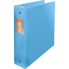 "Wilson Jones ENVI Heavy-duty Round Ring Binder - 2"" Binder Capacity - Letter - 8 1/2"" x 11"" Sheet Size - Round Ring Fastener(s) - Suede Vinyl, Polypropylene, Chipboard - Blue - 567 g - Label Holder, Spine Label, Gap-free Ring, Eco-friendly, Heavy Duty, PVC-free, Hinged, Textured - 1 Each"