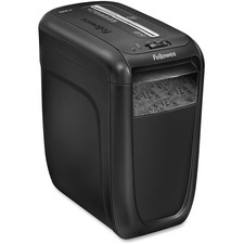 "Fellowes Powershred 60CS Shredder - Cross Cut - 10 Per Pass - for shredding Credit Card, Staples, Paper Clip, Paper - 0.2"" x 2"" Shred Size - Level 3 - 4.01 m/min - 9"" Throat - 6 Minute Run Time - 20 Minute Cool Down Time - 22.71 L Wastebin Capacity - Blac"