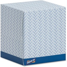 GJO 26085 Genuine Joe Cube Box Facial Tissue GJO26085