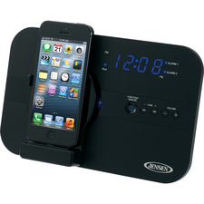 Jensen JiLS-525i Desktop Clock Radio - Stereo - Apple Dock Interface - Proprietary Interface