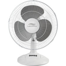 "LAK LDF1210BWM Lakewood 12"" Oscillating Table Fan LAKLDF1210BWM"