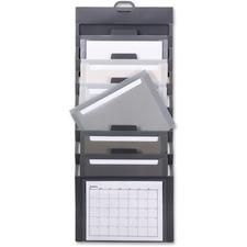 "Smead Cascading Wall Organizer - 6 Pocket(s) - 10.6"" Height x 14.3"" Width - Durable, Tear Proof, Acid-free, Moisture Resistant - Gray - Polypropylene"
