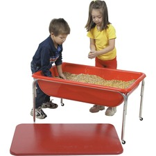 """Childrens Factory 24"""" Large Sensory Table and Lid Set - Rectangle - 4 Legs - 36"""" x 24"""" x 24"""" - Plast"""